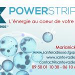 CARTE DE VISITE RECTO SANTE RADIEUSE POWERSTRIPS