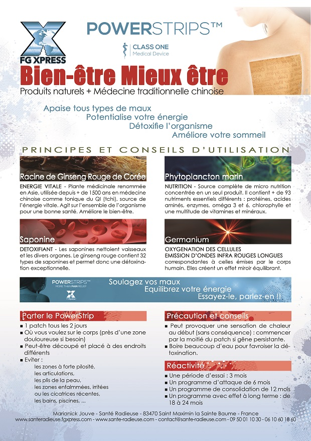 FLYER VERSO SANTE RADIEUSE POWERSTRIPS