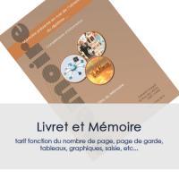 DESIGN - LIVRET ET MEMOIRE