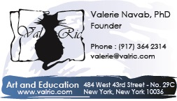 CARTE DE VISITE VALRIC LLC NEW-YORK