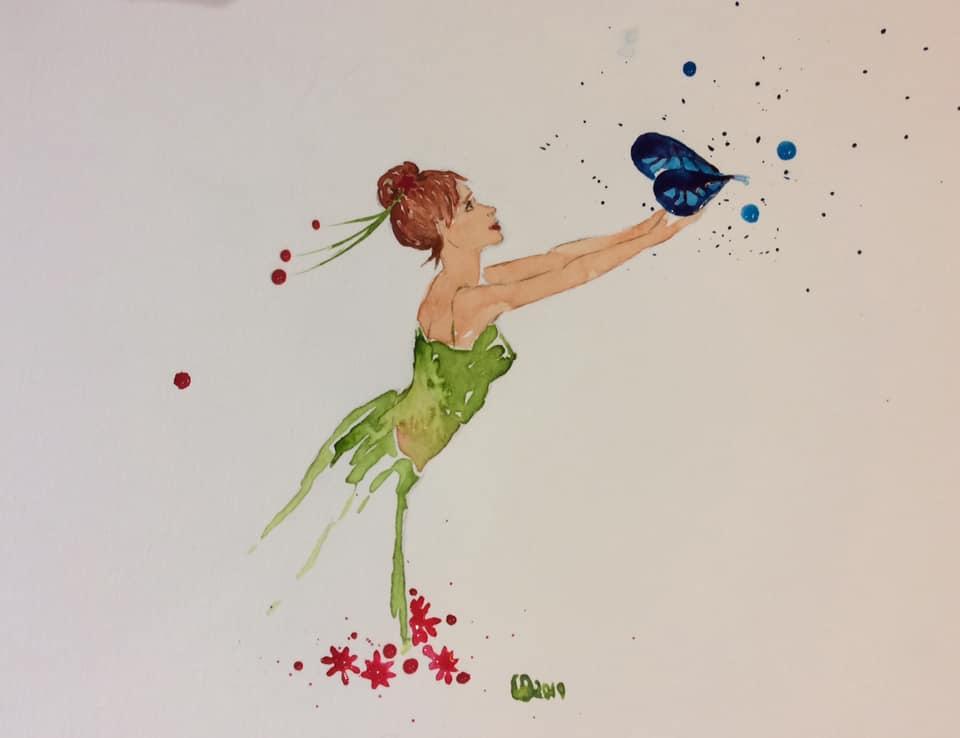 La danseuse et le papillon