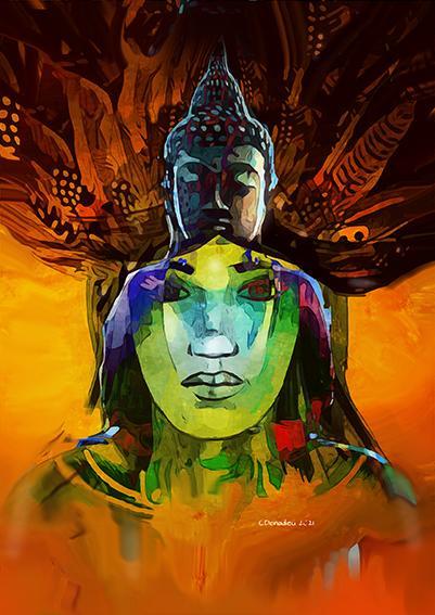Chaman buddha2 4cm